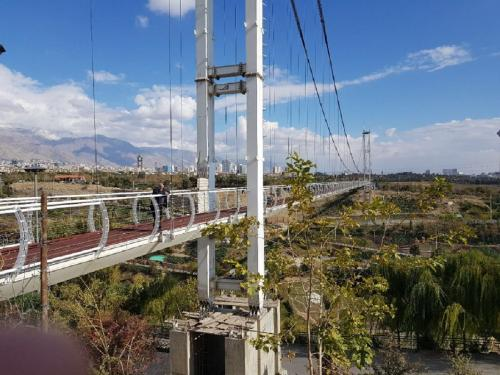 Tehran Nahjolbalagheh Park's Suspension Pedestrian  Bridge (3)
