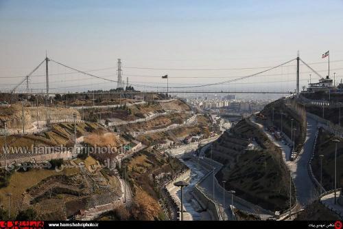 پل عابر پیاده معلق پارک نهج البلاغه تهران   (1)