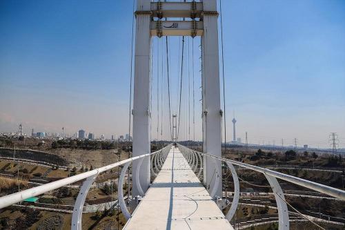 Tehran Nahjolbalagheh Park's Suspension Pedestrian  Bridge (2)
