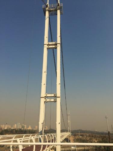 پل عابر پیاده معلق پارک نهج البلاغه تهران   (9)
