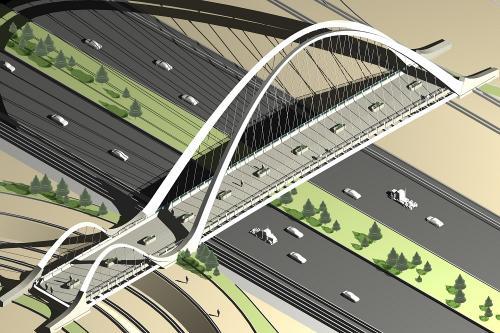 پل عابر پیاده پارک ائل گلی-